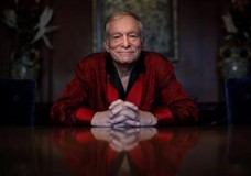 FILE - In this Nov. 4, 2010, file photo, Playboy magazine founder Hugh Hefner poses for photos at the Playboy Mansion in Los Angeles. The Playboy Mansion is up for sale but longtime resident Hefner wants to stay put. Playboy Enterprise announced the West Los Angeles estate, the backdrop of many film shoots and wild parties, was listed on Monday, Jan. 11, 2016, for $200 million. (AP Photo/Jae C. Hong, File)
