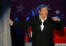 FILE - In this Sept. 5, 2005, file photo, longtime host Jerry Lewis performs during the Muscular Dystrophy Association telethon in Beverly Hills, Calif. Lewis, the comedian and director whose fundraising telethons became as famous as his hit movies, has died. Lewis died Sunday, Aug. 20, 2017, according to his publicist. He was 91. (AP Photo/Jae C. Hong, File)