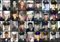 FILE - This combination of file photos provided by their families shows some of the hundreds of U.S. veterans of the Vietnam War who suffered from cholangiocarcinoma, a rare bile duct cancer believed to be linked to liver fluke parasites in raw or poorly cooked river fish. This cancer takes decades to manifest itself. Top row from left are Andrew G. Breczewski, Arthur R. Duhon Sr., Clarence E. Sauer, Dennis Anthony Reinhold, Donald Edward Fiechter, George Jardine, Horst Alexander Koslowsky, Hugo Rocha and James Robert Zimmerman. Second row from left are James Vincent Kondreck, John J. Skahill Jr., Johnny Herald, Leonard H. Chubb, Louis A. DiPietro, Mario Petitti, Mark M. Lipman, Marvin H. Edwards and Michael Kimmons. Third row from left are Mike Brown, Paul Smith, Pete Harrison, Peter D. Antoine, Ralph E. Black, Ricardo Ortiz Jr., Richard Anthony Munoz, Robert J. Fossett Jr. and Robert L. Boring. Fourth row from left are Robert Lee Phelps, Ronald Lee Whitman, Thomas F. Brock, Thomas Michael Cambron, Thomas R. Kitchen Jr., W. Roy Leuenberger, Wayne Lagimoniere, William Boleslaw Klimek and William Francis Hanlon Jr. (AP Photo)