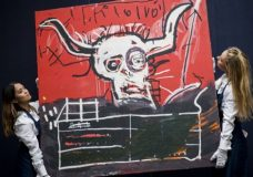 'Cabra' by Jean-Michel Basquiat and currently owned by Yoko Ono, will be auctioned in New York on November 16th. The estimate is $9 million-$12 million. Photograph: Tristan Fewings/Getty Images for Sotheby's