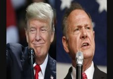 "Alabama voters are getting a recorded phone call of President Donald Trump saying he needs Republican Roy Moore in the U.S. Senate. The recording includes Trump saying progress on his agenda will be ""stopped cold"" Democrat Doug Jones is elected. (Dec. 11)"