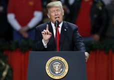 President Donald Trump speaks during a rally in Pensacola, Fla., Friday, Dec. 8, 2017. (AP Photo/Jonathan Bachman)