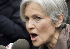 FILE - In this Dec. 5, 2016 file photo, Jill Stein, the presidential Green Party candidate, speaks at a news conference in front of Trump Tower in New York. Jill Stein says she's cooperating with a Senate intelligence committee probe into Russian interference in the election. Stein ran against President Donald Trump as a member of the Green Party. (AP Photo/Mark Lennihan)