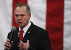 FILE- In this Dec. 11, 2017, file photo, U.S. Senate candidate Roy Moore speaks at a campaign rally in Midland City, Ala. Moore is going to court to try to stop Alabama from certifying Democrat Doug Jones as the winner of the U.S. Senate race. Moore filed a lawsuit Wednesday evening, Dec. 27, 2017, in Montgomery Circuit Court. (AP Photo/Brynn Anderson, File)