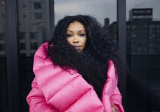 "In this Dec. 4, 2017 photo, singer SZA poses for a portrait in New York to promote her latest album, ""Ctrl."" SZA is nominated for five Grammy Awards for her debut album ""Ctrl."" (Photo by Victoria Will/Invision/AP)"