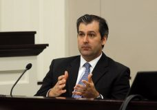 FILE - In a Nov. 29, 2016 file photo, former North Charleston police officer Michael Slager testifies during his murder trial at the Charleston County court in Charleston, S.C. Slager was sentenced to 20 years in prison Thursday, Dec. 7, 2017, for 2015 fatal shooting of unarmed black motorist Walter Scott. (Grace Beahm/Post and Courier via AP, Pool, File)