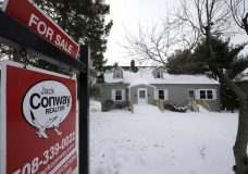 This Monday, Jan. 8, 2018, photo, shows an existing home for sale in Walpole, Mass. On Wednesday, Jan. 24, 2018, the National Association of Realtors reports on sales of existing homes in December. (AP Photo/Steven Senne)