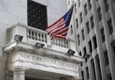 FILE - This Monday, Aug. 24, 2015, file photo shows the New York Stock Exchange. U.S. stocks are mixed, Tuesday, Jan. 23, 2018, as technology and consumer-focused companies rise but consumer goods makers like Johnson & Johnson take losses. (AP Photo/Seth Wenig, File)