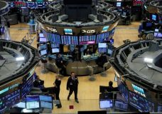 FILE PHOTO: The trading floor is seen on the final day of trading for the year at the New York Stock Exchange (NYSE) in Manhattan, New York, U.S., December 29, 2017. REUTERS/Andrew Kelly