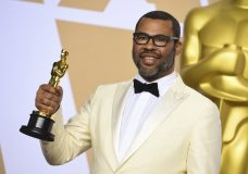 "Jordan Peele, winner of the award for best original screenplay for ""Get Out"", poses in the press room at the Oscars on Sunday, March 4, 2018, at the Dolby Theatre in Los Angeles. (Photo by Jordan Strauss/Invision/AP)"