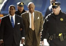 Bill Cosby arrives for his sexual assault trial, Monday, April 23, 2018, at the Montgomery County Courthouse in Norristown, Pa. (AP Photo/Matt Slocum)