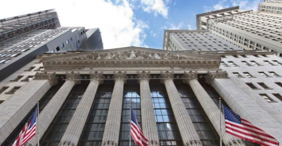 FILE- In this April 5, 2018, file photo, the facade of the New York Stock Exchange is shown. The U.S. stock market opens at 9:30 a.m. EDT on Wednesday, April 18. (AP Photo/Richard Drew, File)