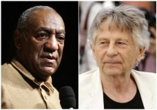 "In this combination photo, Bill Cosby speaks to an audience on the campus of University of the District of Columbia in Washington on May 16, 2006 , left, and director Roman Polanski appears at the photo call for the film, ""Based On A True Story,"" at the 70th international film festival, Cannes, southern France on May 27, 2017. The Academy of Motion Picture Arts and Sciences Board of Governors has voted to expel Cosby and Polanski from its membership. The film academy said Thursday that its board of governors met Tuesday night and voted on their status in accordance with their Standards of Conduct. (AP Photo)"