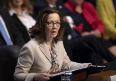 Gina Haspel, President Donald Trump's pick to lead the Central Intelligence Agency, testifies at her confirmation hearing before the Senate Intelligence Committee, on Capitol Hill in Washington, Wednesday, May 9, 2018. (AP Photo/J. Scott Applewhite)