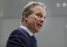 FILE - In this Wednesday, Sept. 6, 2017, file photo, New York Attorney General Eric Schneiderman speaks at a news conference in New York. Four women who have had romantic relationships with Schneiderman have accused him of physically abusing them, and two of the women spoke on record to The New Yorker, which published their claims, on Monday, May 7, 2018. (AP Photo/Seth Wenig, File)