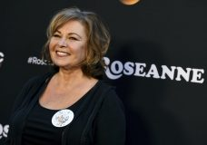 "FILE - In this March 23, 2018, file photo, Roseanne Barr arrives at the Los Angeles premiere of ""Roseanne"" on Friday in Burbank, Calif. Barr has apologized for suggesting that former White House adviser Valerie Jarrett is a product of the Muslim Brotherhood and the ""Planet of the Apes."" Barr on Tuesday, May 29, tweeted that she was sorry to Jarrett ""for making a bad joke about her politics and her looks."" Jarrett, who is African-American, advised Barack and Michelle Obama. (Photo by Jordan Strauss/Invision/AP, File)"