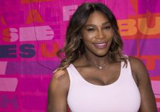 Professional tennis player Serena Williams appears at an event to launch a national street art campaign with Allstate Foundation Purple Purse to make domestic violence and financial abuse visible, at TicTail Market on Wednesday, June 20, 2018, in New York. (Photo by Charles Sykes/Invision/AP)