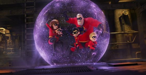 """This image released by Disney Pixar shows a scene from """"Incredibles 2,"""" in theaters on June 15. (Disney/Pixar via AP)"""