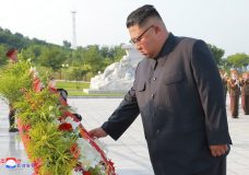 "In this July 26, 2018, photo, provided on July 27, by the North Korean government, North Korean leader Kim Jong Un visits the tombs, on the 65th anniversary of the signing of the ceasefire armistice that ends the fighting in the Korean War, in Pyongyang. Independent journalists were not given access to cover the event depicted in this image distributed by the North Korean government. The content of this image is as provided and cannot be independently verified. Korean language watermark on image as provided by source reads: ""KCNA"" which is the abbreviation for Korean Central News Agency. (Korean Central News Agency/Korea News Service via AP)"