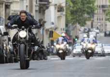 """This image released by Paramount Pictures shows Tom Cruise in a scene from """"Mission: Impossible - Fallout."""" (Chiabella James/Paramount Pictures and Skydance via AP)"""