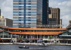 The coast guard patrols the St John's river outside of the Jacksonville Landing in Jacksonville, Fla., Sunday, Aug. 26, 2018. Florida authorities are reporting multiple fatalities after a mass shooting at the riverfront mall in Jacksonville that was hosting a video game tournament. (AP Photo/Laura Heald)
