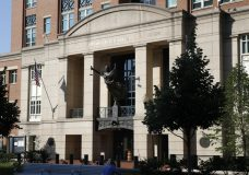 Federal court, where the trial of former Trump campaign chairman Paul Manafort will continue, is seen in Alexandria, Va., Wednesday, Aug. 8, 2018. (AP Photo/Jacquelyn Martin)