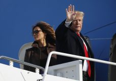 President Donald Trump and first lady Melania Trump board Air Force One, Thursday, Nov. 29, 2018 at Andrews Air Force Base, Md. Trump is traveling to Argentina to attend the G20 summit. (AP Photo/Pablo Martinez Monsivais)