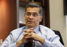 FILE - In this Oct. 10, 2018, file photo, California Attorney General Xavier Becerra discusses various issues during an interview with The Associated Press, in Sacramento, Calif. Becerra, California's top prosecutor, has been among the most aggressive of the Democratic state attorneys general who have fought President Donald Trump in court. Becerra said he looks to defend issues he championed as a 12-term Congressman and listens to what the president says to prepare for future litigation. (AP Photo/Rich Pedroncelli, File)