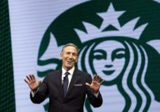 FILE - In this March 22, 2017 file photo, Starbucks CEO Howard Schultz speaks at the Starbucks annual shareholders meeting in Seattle. For someone who has given about $150,000 to Democratic campaigns over the years, Schultz is generating tepid, or even hostile, responses within the party as he weighs a presidential bid in 2020. That's because reports have suggested he's considering running as an independent, a prospect that could draw support away from the eventual Democratic nominee and hand President Donald Trump another four years in office, many fret. (AP Photo/Elaine Thompson, File)