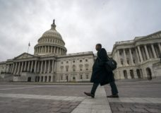 The Capitol is seen as the partial government shutdown lurches into a third week with President Donald Trump standing firm in his border wall funding demands, in Washington, Monday, Jan. 7, 2019. After no weekend breakthrough to end a prolonged shutdown, newly empowered House Democrats are planning to step up pressure on Trump and Republican lawmakers to reopen the government. (AP Photo/J. Scott Applewhite)