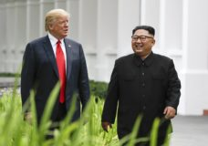 FILE - In this June 12, 2018, file photo, U.S. President Donald Trump, left, and North Korea leader Kim Jong Un walk from their lunch at the Capella resort on Sentosa Island in Singapore. The success of the second summit between President Donald Trump and North Korean leader Kim Jong Un hinges largely on whether Kim proves he's truly committed to denuclearization. (AP Photo/Evan Vucci, File)