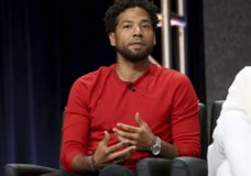 "FILE - In this Aug. 8, 2017 file photo, Jussie Smollett participates in the ""Empire"" panel during the FOX Television Critics Association Summer Press Tour at the Beverly Hilton in Beverly Hills, Calif. Chicago's top prosecutor has recused herself from the investigation into the attack reported by Smollett. Cook County State's Attorney Kim Foxx offered few specifics when announcing she was stepping back Tuesday, Feb. 19, 2019. (Photo by Willy Sanjuan/Invision/AP, File)"