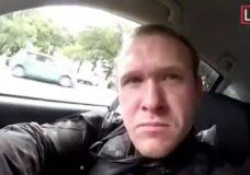 his frame from video that was livestreamed Friday, March 15, 2019, shows a gunman, who used the name Brenton Tarrant on social media, in a car before the mosque shootings in Christchurch, New Zealand. (Shooter's Video via AP)