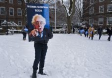 People arrive for a rally for Sen. Bernie Sanders, I-Vt., before Sanders kicks off his political campaign Saturday, March 2, 2019, in the Brooklyn borough of New York. Sanders will launch a 2020 presidential campaign. (AP Photo/Craig Ruttle)