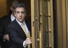 FILE - In this Aug. 21, 2018, file photo, Michael Cohen leaves Federal court, in New York. Newly released documents show the FBI was investigating President Donald Trump's former personal attorney and fixer for nearly a year before agents raided his home and office. A search warrant released Tuesday, March 19, 2019 shows the federal inquiry into Cohen had been going on since July 2017, far longer than had previously been known. (AP Photo/Mary Altaffer, File)