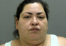 This booking photo provided by the Chicago Police Department, Thursday, May 16, 2019, shows Clarisa Figueroa, who is charged in the death of 19-year-old expectant mother Marlen Ochoa-Lopez. First-degree murder charges have been filed against Figueroa and her daughter Desiree Figueroa in connection with the death of Ochoa-Lopez, whose body was discovered earlier in the week, strangled before her baby was cut from her womb. (Chicago Police Department via AP)